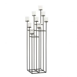 Candle holder 9 candles | Black
