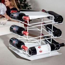 VINCENT Wine Rack 12 Bottles   White