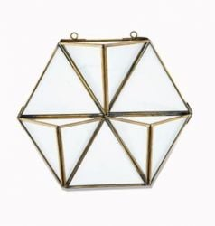 Karana Wall Hung Planter Display Large | Antique Brass