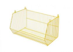 Stackable Storage Basket Living Basket | Yellow