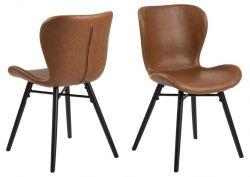 Set de 2 Chaises Matilda-A1 | Brun & Noir