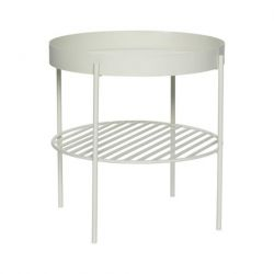 Table d'Appoint Metal 46 cm | Gris