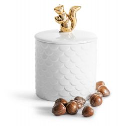 Container with Lid Squirrel | Gold