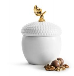 Bowl with Lid Acorn | Gold