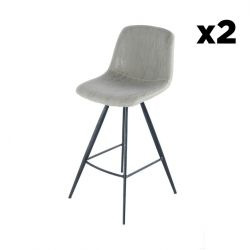 Bar Stool Timo Set of 2 | Taupe & Black