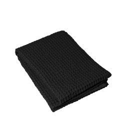 Bath Towel Waffle 70 x 140 cm | Black