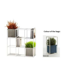 Modular Planting System 9x White + 2 Blue Bags