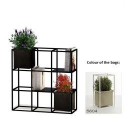 Modulair Plantensysteem 9x Zwart + 2 Beige Zakken