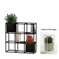 Modular Planting System 9x Black + 2 Light Grey Bags