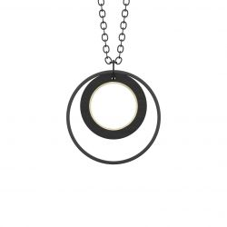Necklace Superlativ | Black & Gold