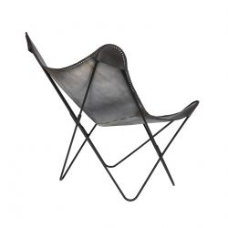 Chaise Flint | Aspect Cuir Noir
