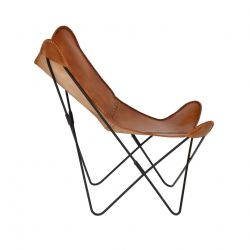 Chair Flint | Brown Leatherlook