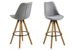 Bar Stool Nida | Set of 2 | Light Grey
