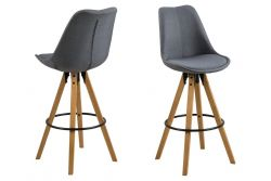 Bar Stool Nida | Set of 2 | Dark Grey
