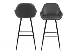 Tabouret de Bar Candy | Set de 2 | Gris
