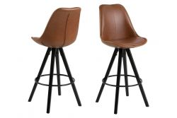 Bar Stool Nida | Set of 2 | Brown