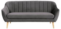 3 Seater Sofa Inca | Dark Grey