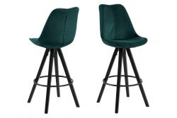 Bar Stool Nida | Set of 2 | Green