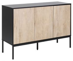 Sideboard Stanley 3 Doors | White Wash/Black