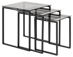Set of 3 Coffee Tables Marina | Glass