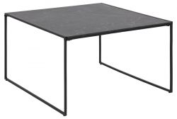 Table basse Infinity 80 x 80 cm | Noir