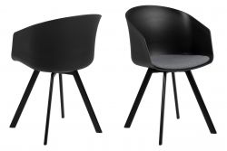 Chairs Loon Set of 2 | Black / Grey Fabric