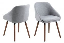 Chairs Niel Set of 2 | Grey