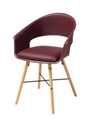 Dining Chair Knivar | Burgundy Red
