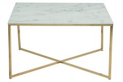 Coffee Table Ali 80 x 80 | White Marble