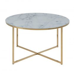 Coffee Table Ali Ø 80 | White Marble