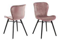 Set of 2 Dining Chairs Bondy  | Rose