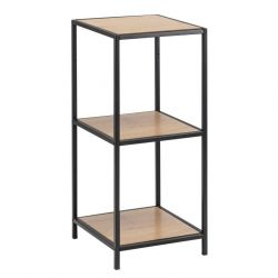 Wall Unit Stanley 3 Shelves | Oak/Black