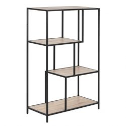 Bookcase Stanley | Sonoma Oak/Black