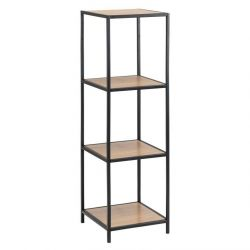 Wall Unit Stanley 4 Shelves | Oak/Black