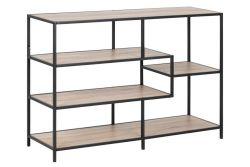 Bookcase Stanley  Large | Sonoma Oak/Black