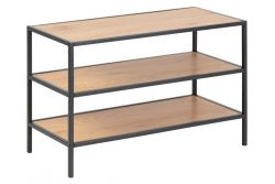 Shoe Rack Stanley  3 Shelves | Oak / Black