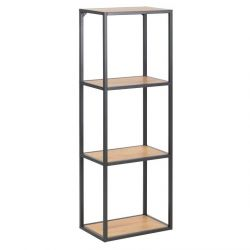 Bookcase Stanley Small | Oak / Black