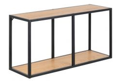 Bookcase Stanley Low | Oak/Black
