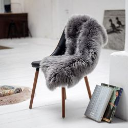 New Zealand Sheepskin Pelt | Grey