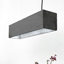 Pendant Lamp B4 | Dark Grey Concrete + Silver