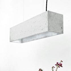 Pendant Lamp B4 | Light Grey Concrete + Silver