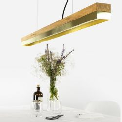 Pendant Lamp [C1o] Oak + Brass