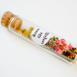 Dried Flowers in Bottle with Stickers | 1 Piece