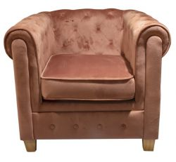 Armchair Chesterfield Malibu | Pink