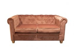 Sofa Chesterfield 2 Seater | Pink