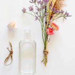 Bouquet Séchées et Bouteille | 1 Pièce