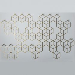 Clothes Hanger POLYHEDRA | Stiga XL Gold