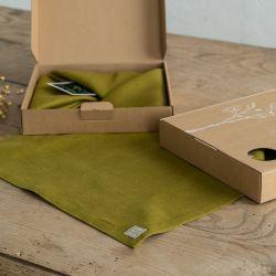 Leinen Platzset 4er-Set | Grün
