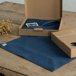 Leinen Platzset 4er-Set | Blau