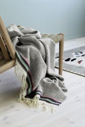Akle Blanket | Light Grey-Beige